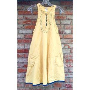 Lulumari butter yellow tunic style dress w/pockets